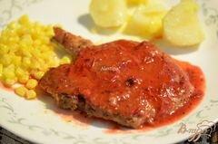 «Cвиные отбивные с клюквенным соусом» - приготовления блюда - шаг 5