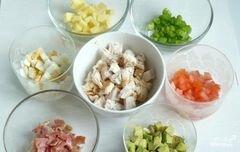 """«Салат """"Кобб""""» - приготовления блюда - шаг 4"""