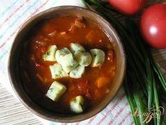 «Томатный суп с творожными клецками» - приготовления блюда - шаг 6