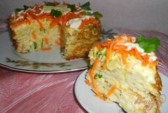 «Тортик из капустных блинчиков» - приготовления блюда - шаг 7