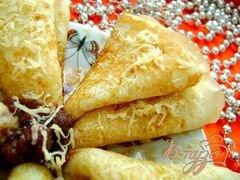 «Вкусные сырные блины» - приготовления блюда - шаг 5
