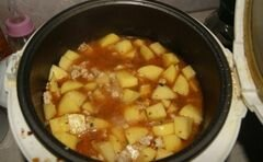 «Рагу по-болгарски» - приготовления блюда - шаг 6