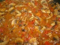 «Спагетти с грибами и помидорами» - приготовления блюда - шаг 6