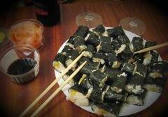 «Роллы с рыбой, сыром и перцем» - приготовления блюда - шаг 4