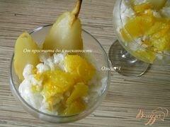 «Рисовый пудинг в кокосовых сливках с грушей, апельсиновым соусом и кедровыми орешками» - приготовления блюда - шаг 6