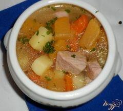 «Айнтопф с репой (Kohlrübeneintopf)» - приготовления блюда - шаг 6