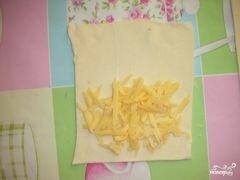 «Слоеные пирожки с сыром» - приготовления блюда - шаг 2