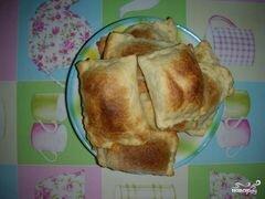 «Слоеные пирожки с сыром» - приготовления блюда - шаг 5