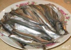«Мойва в кляре» - приготовления блюда - шаг 1