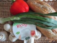 «Тартина с рикоттой, грибами и сладким перцем» - приготовления блюда - шаг 1