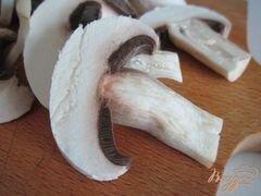 «Тартина с рикоттой, грибами и сладким перцем» - приготовления блюда - шаг 2