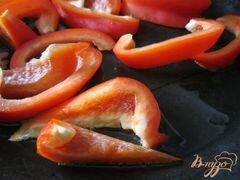 «Тартина с рикоттой, грибами и сладким перцем» - приготовления блюда - шаг 4