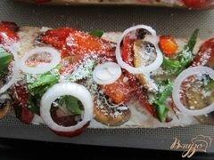 «Тартина с рикоттой, грибами и сладким перцем» - приготовления блюда - шаг 8