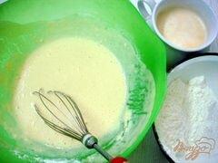 «Тыквенные блинчики со шпинатом и творогом» - приготовления блюда - шаг 2