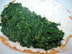 «Тыквенные блинчики со шпинатом и творогом» - приготовления блюда - шаг 6