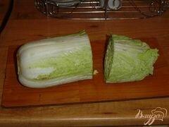 «Хризантема из пекинской капусты» - приготовления блюда - шаг 2