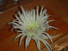 «Хризантема из пекинской капусты» - приготовления блюда - шаг 4
