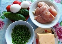 «Салат «Di pollo» - приготовления блюда - шаг 1
