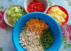 «Салат «Di pollo» - приготовления блюда - шаг 3