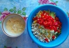 «Салат «Di pollo» - приготовления блюда - шаг 4