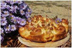 """«Пирог """"Хризантемы"""".» - приготовления блюда - шаг 10"""
