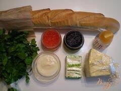 «Праздничные бутербродики» - приготовления блюда - шаг 1