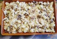 «Цветная капуста с грибами, молоком и сыром.» - приготовления блюда - шаг 2