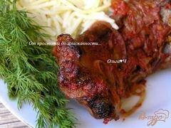 «Свиные ребрышки в томатном соусе с майораном» - приготовления блюда - шаг 6