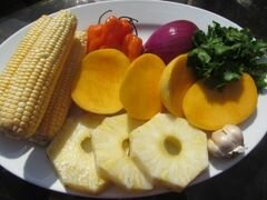 «Сальса с овощами и фруктами, обжаренными на гриле» - приготовления блюда - шаг 2