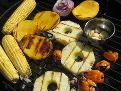 «Сальса с овощами и фруктами, обжаренными на гриле» - приготовления блюда - шаг 3