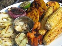 «Сальса с овощами и фруктами, обжаренными на гриле» - приготовления блюда - шаг 4
