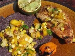«Сальса с овощами и фруктами, обжаренными на гриле» - приготовления блюда - шаг 7