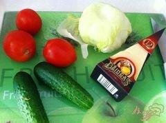 «Овощной салат с сыром Джугос» - приготовления блюда - шаг 1