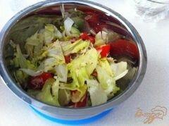 «Овощной салат с сыром Джугос» - приготовления блюда - шаг 10