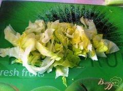 «Овощной салат с сыром Джугос» - приготовления блюда - шаг 2