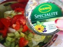 «Овощной салат с сыром Джугос» - приготовления блюда - шаг 6