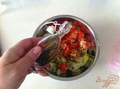«Овощной салат с сыром Джугос» - приготовления блюда - шаг 8