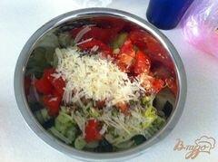 «Овощной салат с сыром Джугос» - приготовления блюда - шаг 9