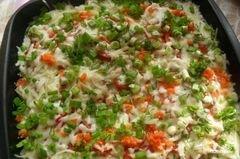 «Свинина по-французски с помидорами и картошкой» - приготовления блюда - шаг 9