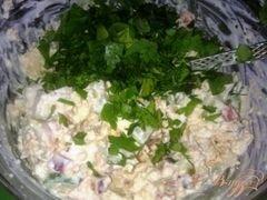 «Закуска из творога с овощами.» - приготовления блюда - шаг 7
