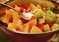 «Сладкий салат из фруктов» - приготовления блюда - шаг 3
