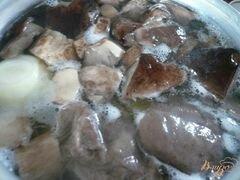 «Суп-пюре из грибов и картофеля» - приготовления блюда - шаг 5