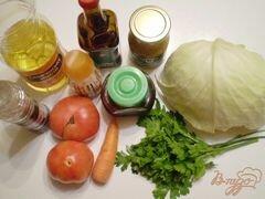 «Легкий овощной салат» - приготовления блюда - шаг 1