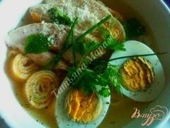 «Суп с блинной лапшой на курином бульоне» - приготовления блюда - шаг 6