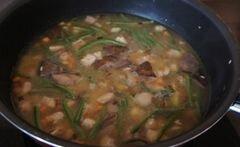 «Ризотто с грибами, стручковой фасолью и мясом» - приготовления блюда - шаг 4
