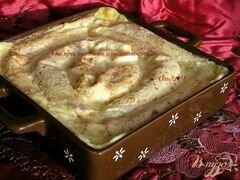 «Блинчики с творогом, запеченные в сливках, с бруснично-апельсиновым соусом» - приготовления блюда - шаг 12
