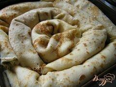 «Блинчики с творогом, запеченные в сливках, с бруснично-апельсиновым соусом» - приготовления блюда - шаг 5