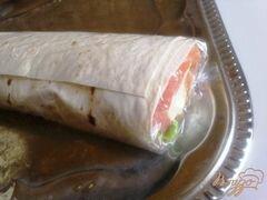 «Лаваш с семгой и сырным салатом.» - приготовления блюда - шаг 11