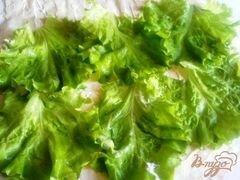 «Лаваш с семгой и сырным салатом.» - приготовления блюда - шаг 7