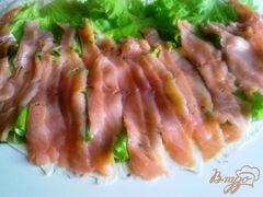 «Лаваш с семгой и сырным салатом.» - приготовления блюда - шаг 8